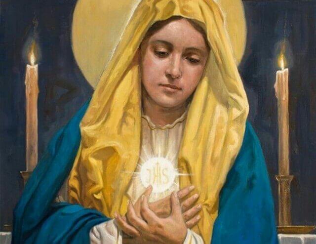 Comungar Jesus em Maria